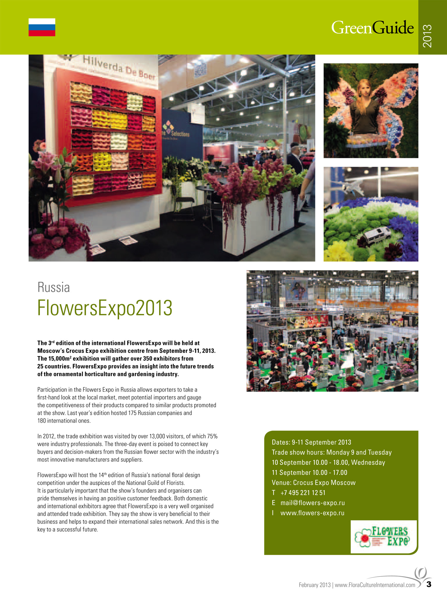 Press about us - FlowersExpo - Exhibitions - English - Flowers-Expo ru
